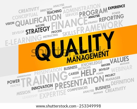Quality Management word cloud, business concept - stock vector
