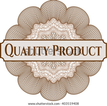 Quality Product rosette (money style emplem) - stock vector