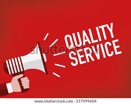 Quality service - stock vector