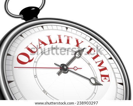 quality time concept clock isolated on white background