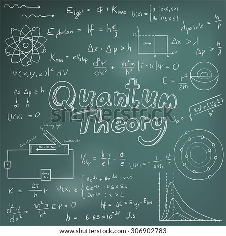 Quantum Theory Law Physics Mathematical Formula Stock Vector HD ...
