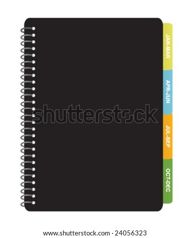 Quarterly Planner - stock vector