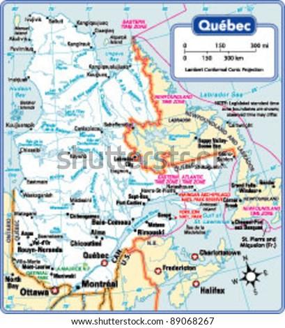 Quebec Map Stock Images RoyaltyFree Images Vectors Shutterstock - Quebec state physical map