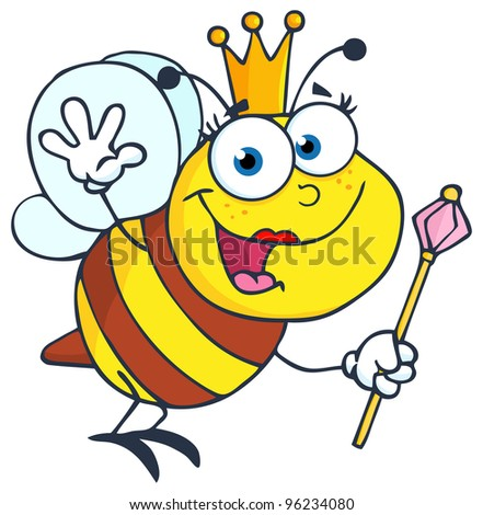 Cartoon Queen Bumble Bee Queen bee cartoon character