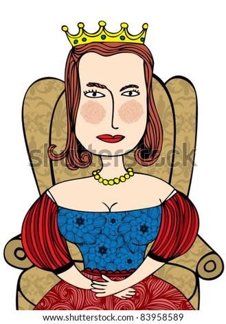 queen illustration/vector - stock vector