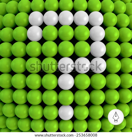 Question. Abstract technology background with balls. 3d vector illustration. Can be used as background for your business presentation.  - stock vector
