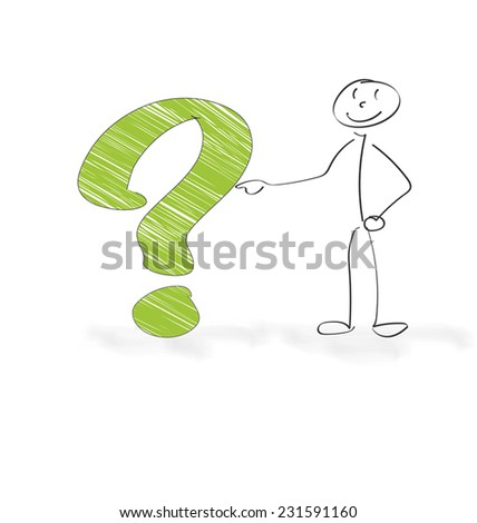 Question and Answers - stock vector