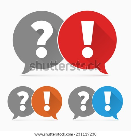 Question and answers icon - stock vector