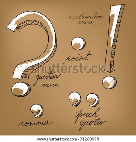 Question and exclamation marks - stock vector