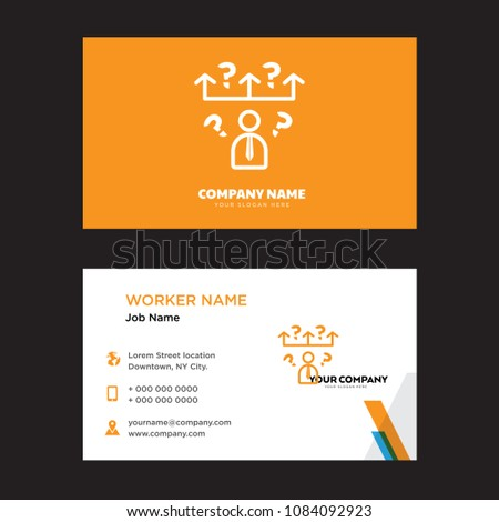 Question business card design template visiting stock vector question business card design template visiting for your company modern horizontal identity card vector reheart Images