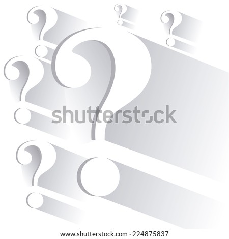 Question design over white background, vector illustration