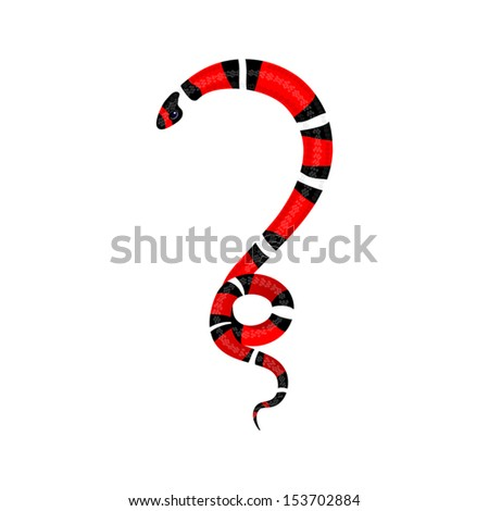question in the form of a snake - stock vector