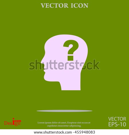 question mark and man vector icon