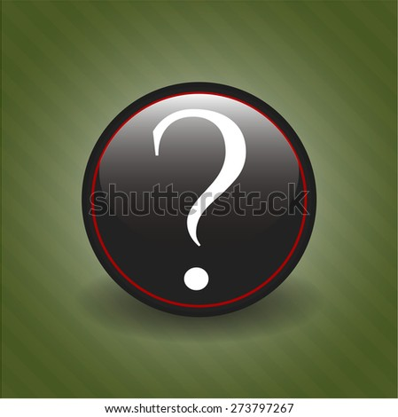 Question mark black badge