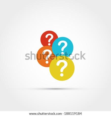 Question mark icon - stock vector