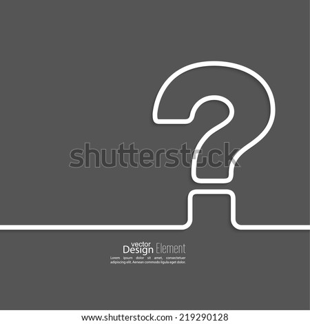 Question mark icon. Help symbol. FAQ sign  in on a dark background. vector