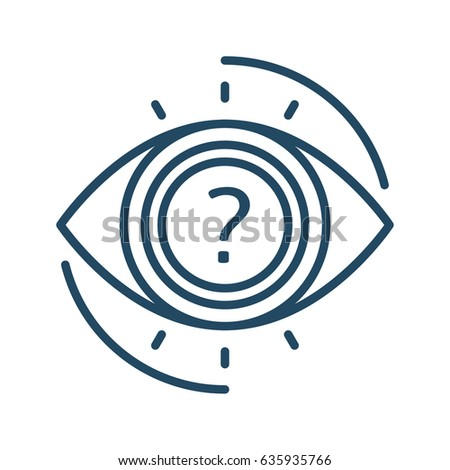 Question Mark Inside Eye Vector Icon Stock Vector Royalty Free