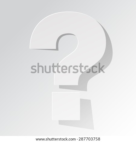 question mark on a white background