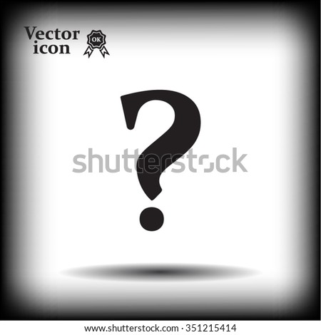 Question mark sign icon, vector illustration. Flat design style