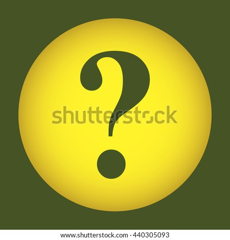 Question mark sign icon, vector illustration. Flat design style. Pictograph of question mark.