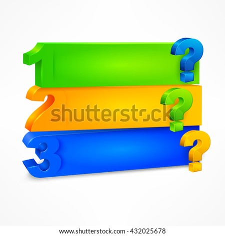 Question mark template color on white vector illustration.  Business icon, symbol for business. businessman icon. - stock vector