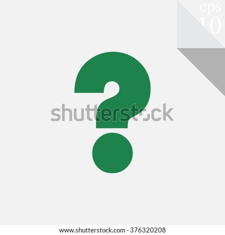 Question mark vector icon.