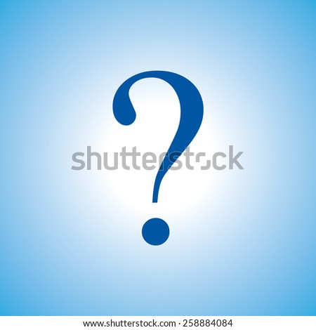 question mark, vector illustration. Flat design style. - stock vector