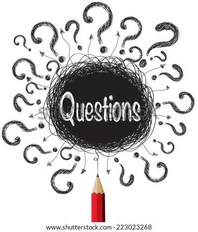 Question marks designs illustration vector - stock vector