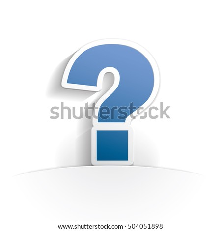 question paper icon style full vector