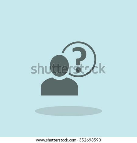 Question sign - stock vector
