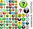 Question vector buttons. - stock vector