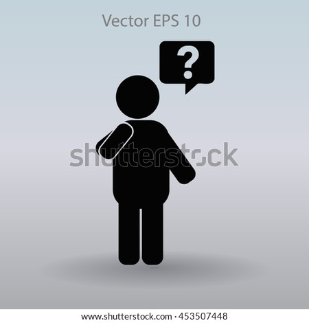 question vector icon - stock vector