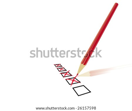 questionary - stock vector