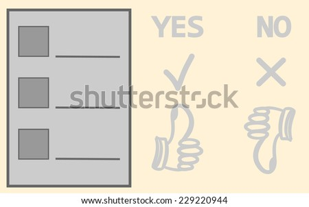 Questionnaire for selection. Blank squares - stock vector