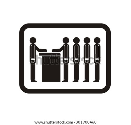 queue simple icon - stock vector