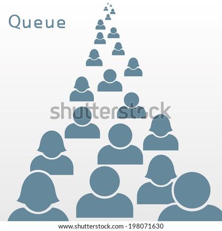 queue. vector concept background. eps8 - stock vector