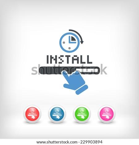 Quick install - stock vector