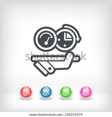 Quick performance - stock vector
