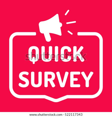 quick survey badge megaphone icon flat stock vector royalty free