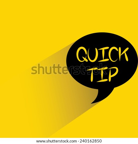 quick tip - stock vector