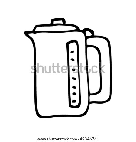 quirky drawing of a kettle
