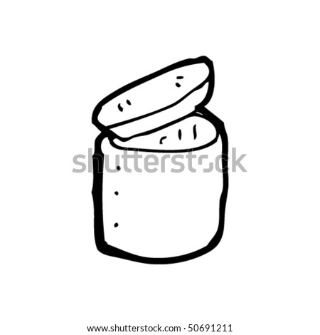 quirky drawing of a open pot
