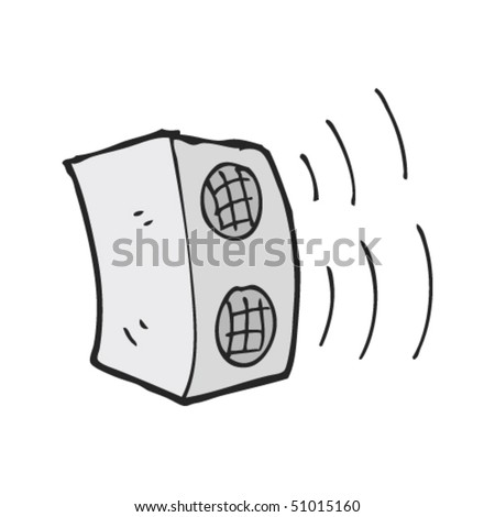 quirky drawing of a speaker