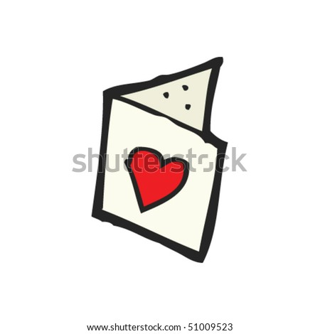 quirky drawing of a valentine's day card