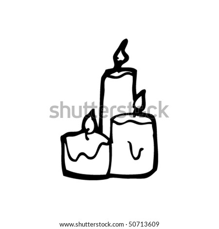 quirky drawing of candles