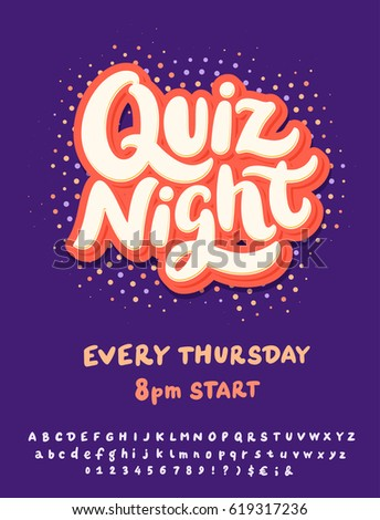 Quiz Night. Poster Template.  Free Quiz Template