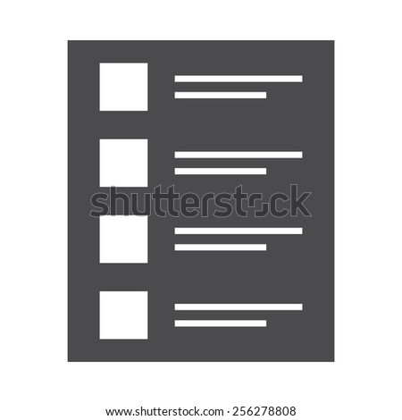 Quiz vector image to be used in web applications, mobile applications and print media. - stock vector