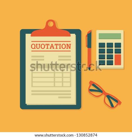 Quotation - stock vector
