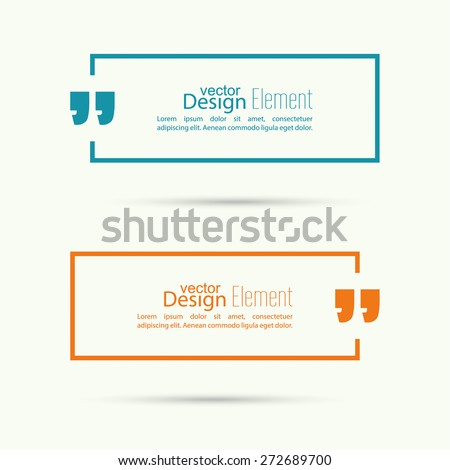 Quotation Mark Speech Bubble. Quote sign icon. - stock vector