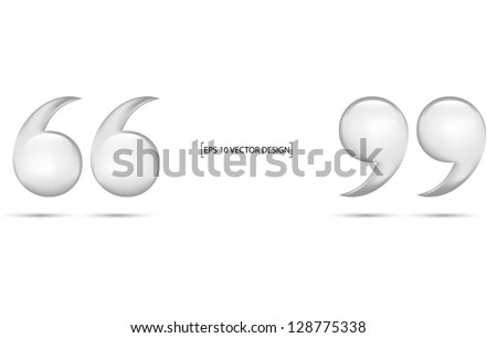 Quotation marks  on white background - stock vector